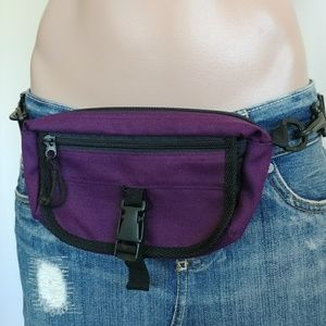 Purple Fanny Hip Waist Pack Purse Bag Belt Loop